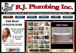 rj plumbing, plumbing contractor, plumber, plumbing repairs, plumbing services, south bay plumbers