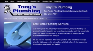 Tony's Plumbing, plumbing contractors, plumbers, plumbing repairs, plumbing services, plumbing & hvac