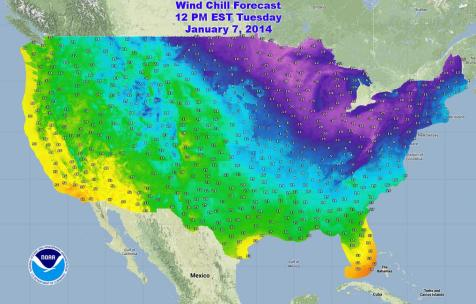 Freezing Map