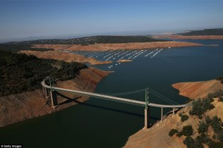 After: Lake Oroville in 2014