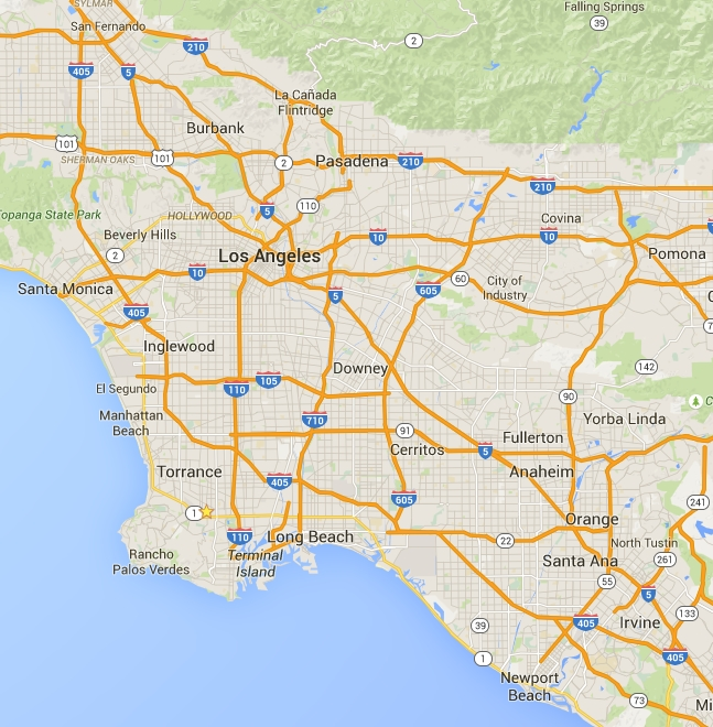 los angeles, service area, map, repairs, hvac, contractor, range
