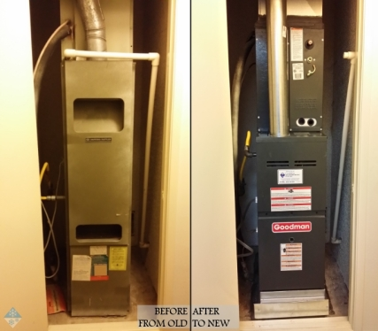 furnace, old to new
